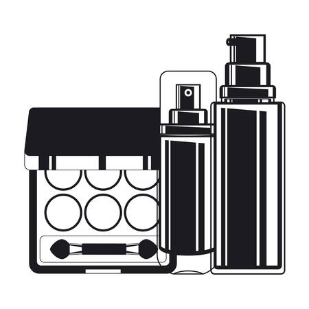 splash bottle and shadows make up icon vector illustration design