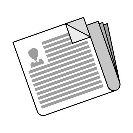 newspaper information document isolated icon vector illustration design