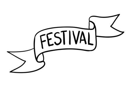 oktoberfest lettering calligraphy font with ribbon frame vector illustration design