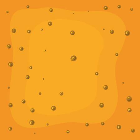 beer color and bubbles background vector illustration design Ilustração