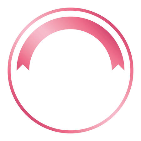 breast cancer campaign ribbon in circular frame vector illustration design Illustration