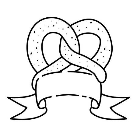 delicious pretzel bakery food icon vector illustration design