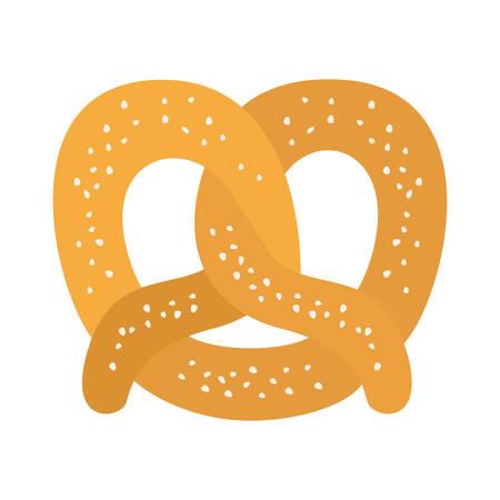 delicious pretzel bakery food icon vector illustration design