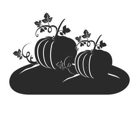 halloween pumpkins vegetables isolated icons vector illustration design Standard-Bild - 133053240