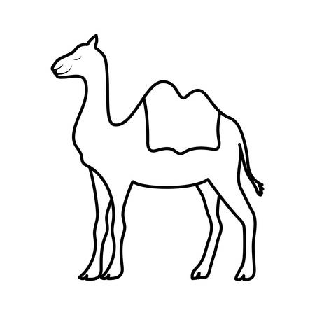 cute camel manger animal character vector illustration design Stock Illustratie