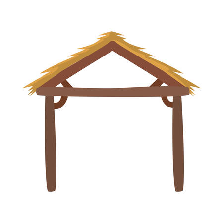manger wooden stable isolated icon vector illustration design