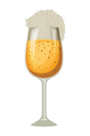beer cup oktoberfest celebration icon vector illustration design