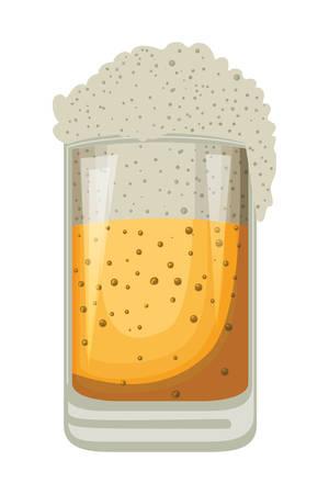 beer jar oktoberfest celebration icon vector illustration design