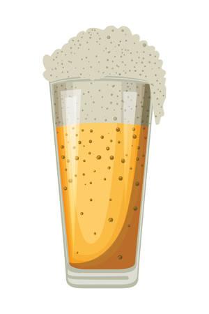 beer glass oktoberfest celebration icon vector illustration design