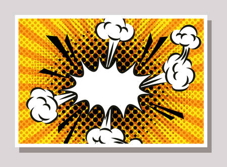 expresion splash pop art style vector illustration design