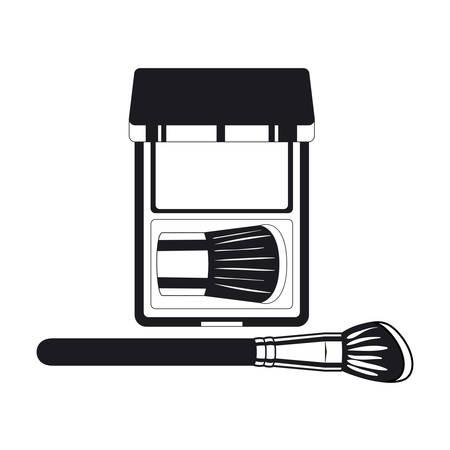Applicateur composent pinceau épais et ombres vector illustration design Vecteurs