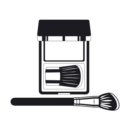 applicator make up thick brush and shadows vector illustration design Illusztráció