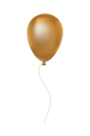 Ballon d'or flottant à l'hélium icône décorative vector illustration design Vecteurs