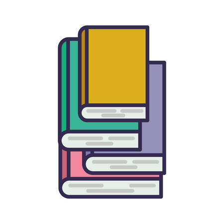 education text books pile icons vector illustration design