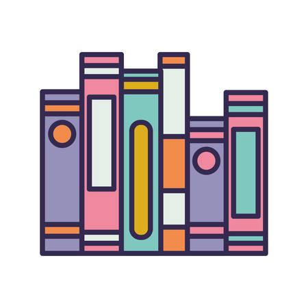 education text books pile icons vector illustration design Stock fotó - 133639288