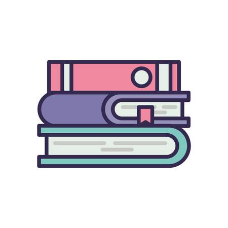 education text books pile icons vector illustration design Stock fotó - 133639293