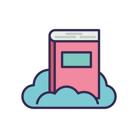 education text book with cloud vector illustration design Stock fotó - 133639374