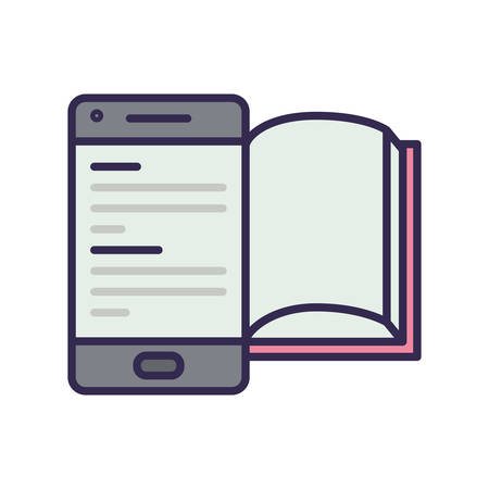 electronic book in smartphone icon vector illustration design Stock fotó - 133639383