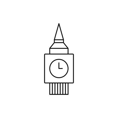 england big ben tower icon vector illustration design