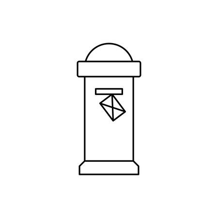 england classic mailbox isolated icon vector illustration design