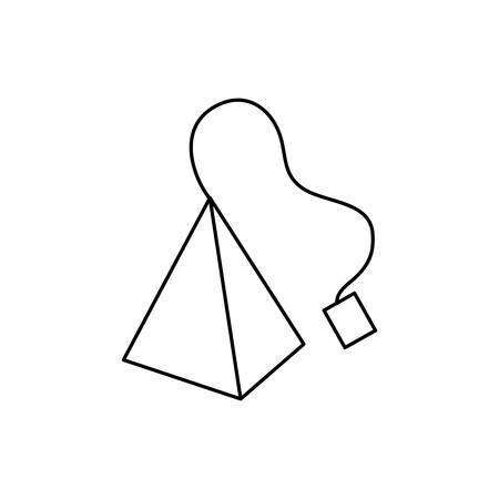 british tea bag isolated icon vector illustration design