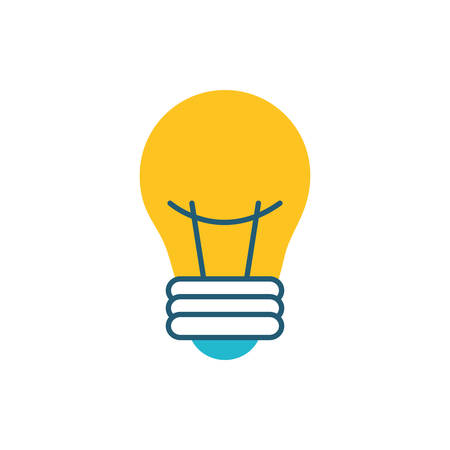bulb light electric isolated icon vector illustration design
