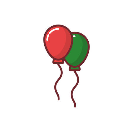 Balloons design, Party celebration entertainment holiday birthday and decoration Vector illustration Foto de archivo - 133691665