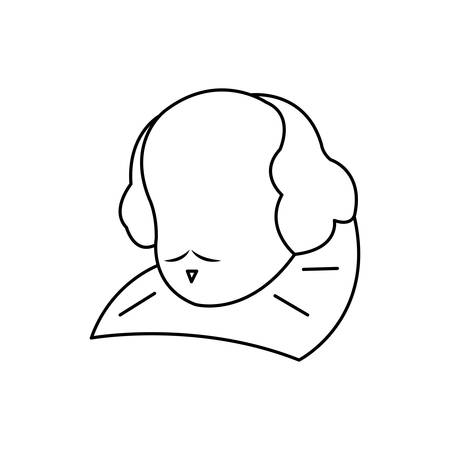 william shakespeare statue isolated icon vector illustration design