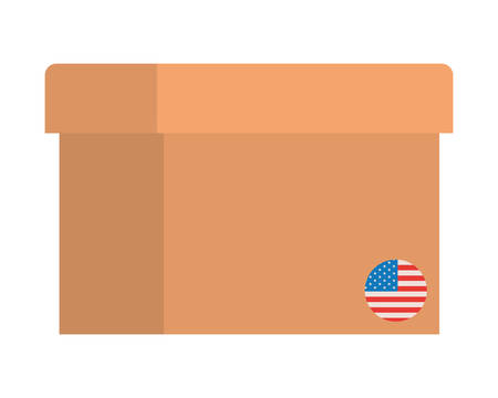 usa box design, United states of america independence day nation and country theme Vector illustration Ilustrace