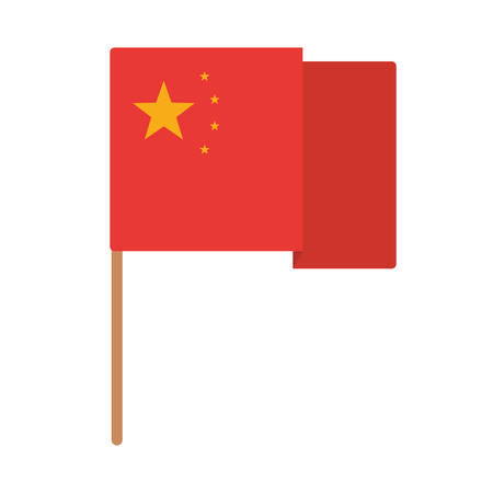 Chinese flag design, China culture asia traditional famous oriental and landmark theme Vector illustration