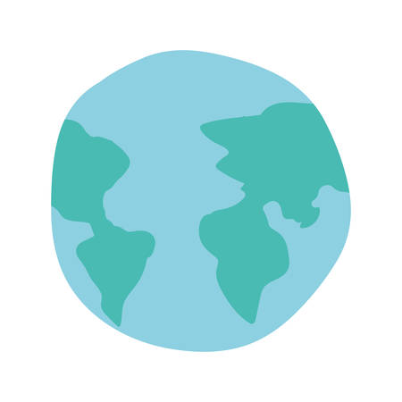 Planet sphere design, Continent earth world globe ocean and universe theme Vector illustration Иллюстрация
