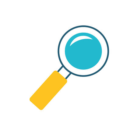 search magnifying glass isolated icon vector illustration design 일러스트