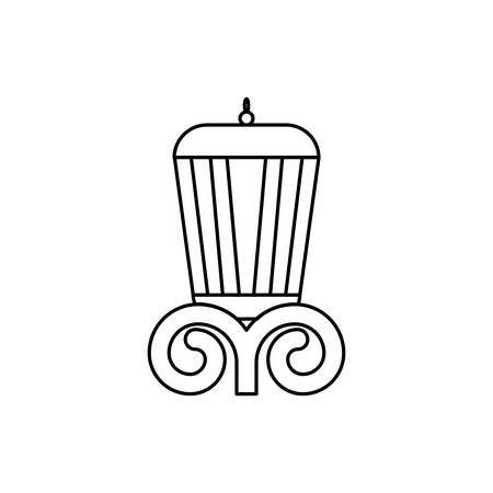 elegant column england style icon vector illustration design