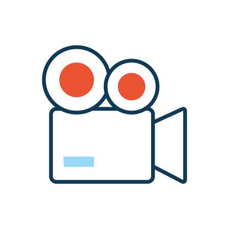 video camera film isolated icon vector illustration design Ilustracja