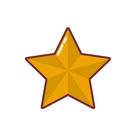 Diseño de forma de estrella, calificación web de estilo de éxito de premio de decoración y tema de calidad