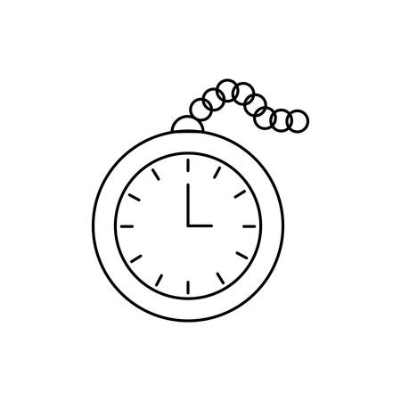 england Pocket Watch isolated icon vector illustration design