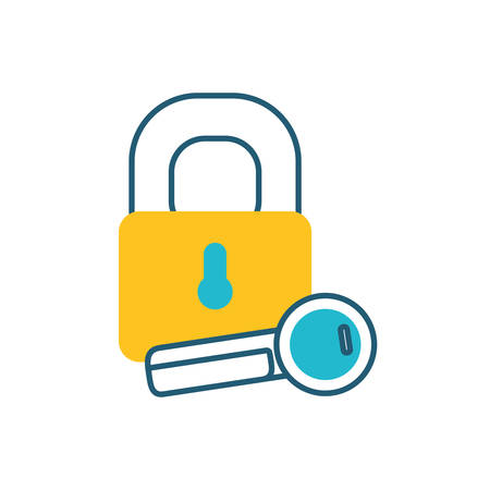 secure padlock with key access icon vector illustration design Stock fotó - 133692010