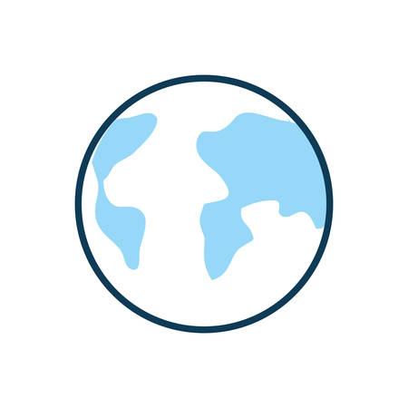 world planet earth isolated icon vector illustration design