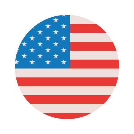 projekt flagi usa, Stany Zjednoczone Ameryki Dzień Niepodległości naród i motyw kraju Ilustracja wektorowa Ilustracje wektorowe