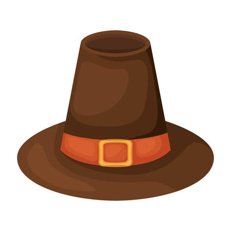 Happy thanksgiving hat design, Autumn season holiday greeting and traditional theme Vector illustration