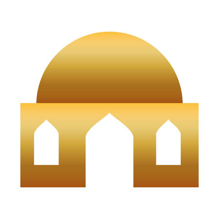 golden house building isolated icon vector illustration design