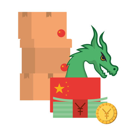 Chinese yuan design, Money finance commerce market payment invest and buy theme Vector illustration