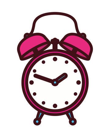 alarm clock pop art style vector illustration design Ilustrace