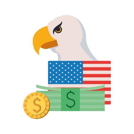 Usa design, Money finance commerce market payment invest and buy theme Vector illustration Stock fotó - 133700756