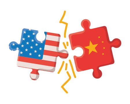 commercial war between china and usa design, Money finance commerce market payment invest and buy theme Vector illustration Stock fotó - 133700761