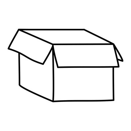 Box design, Delivery shipping logistics transportation distribution and merchandise theme Vector illustration Ilustrace