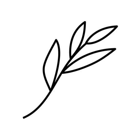 happy merry christmas leafs decoration vector illustration design Illusztráció