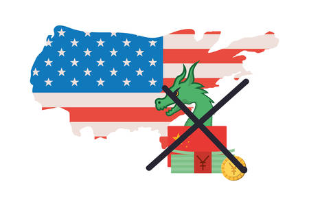 commercial war between china and usa design, Money finance commerce market payment invest and buy theme Vector illustration Stock fotó - 133700791