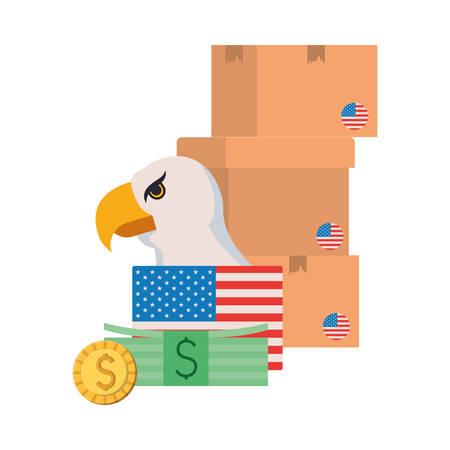 Usa design, Money finance commerce market payment invest and buy theme Vector illustration Stock fotó - 133701018