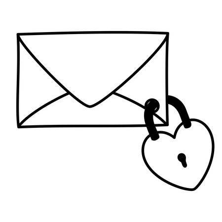 Envelope icon design, Email mail message letter marketing communication card and document theme Vector illustration Illusztráció